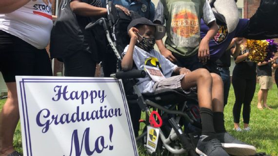 Baltimore Ravens and Orioles Help Cancer Patient Mo Gaba Celebrate Graduation